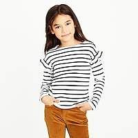 a669fc95ef40 Girls  long-sleeve striped ruffle top in 2018