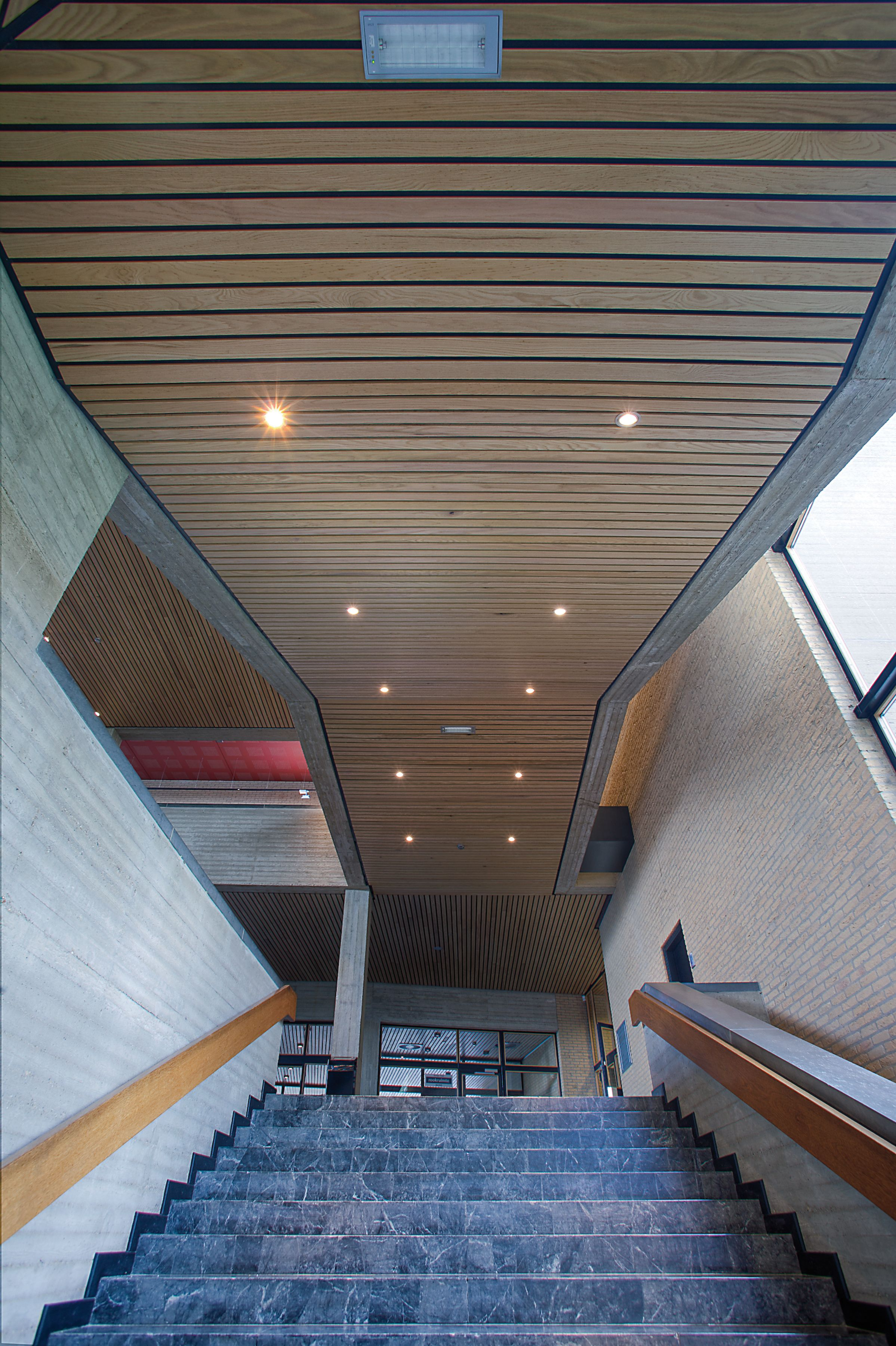 Linear Ceiling Installed At Erasmus Universiteit In Rotterdam, Netherlands And