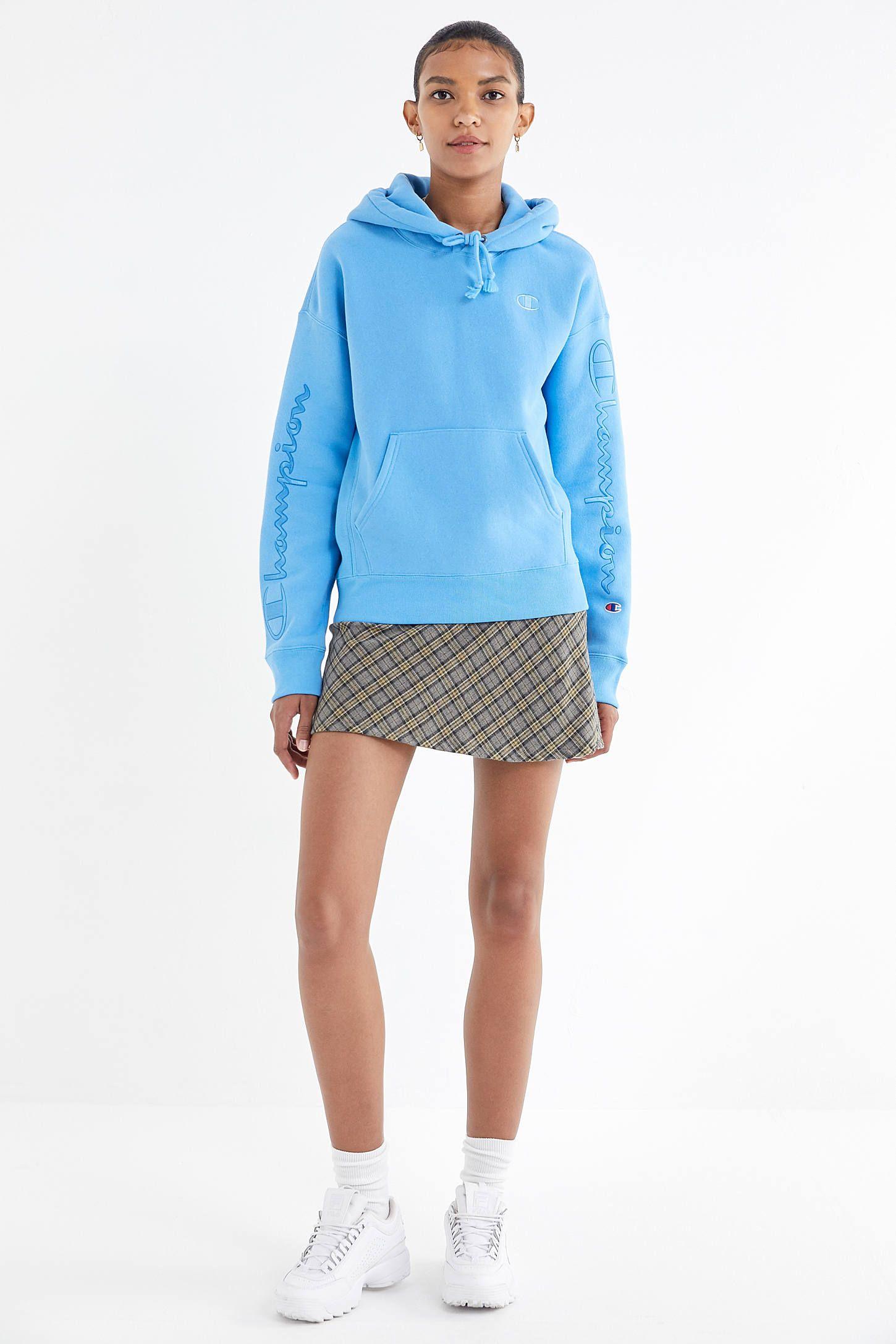 Champion Uo Satin Script Hoodie Sweatshirt Sweatshirts Hoodie Sweatshirts Cotton Hoodie [ 2175 x 1450 Pixel ]