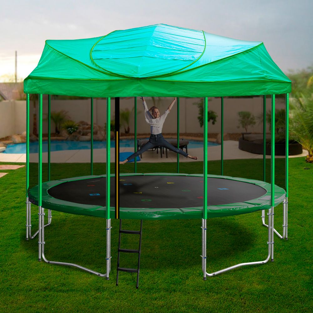 16ft Trampoline With Enclosure Backyard Trampoline 16ft Trampoline Trampoline Tent