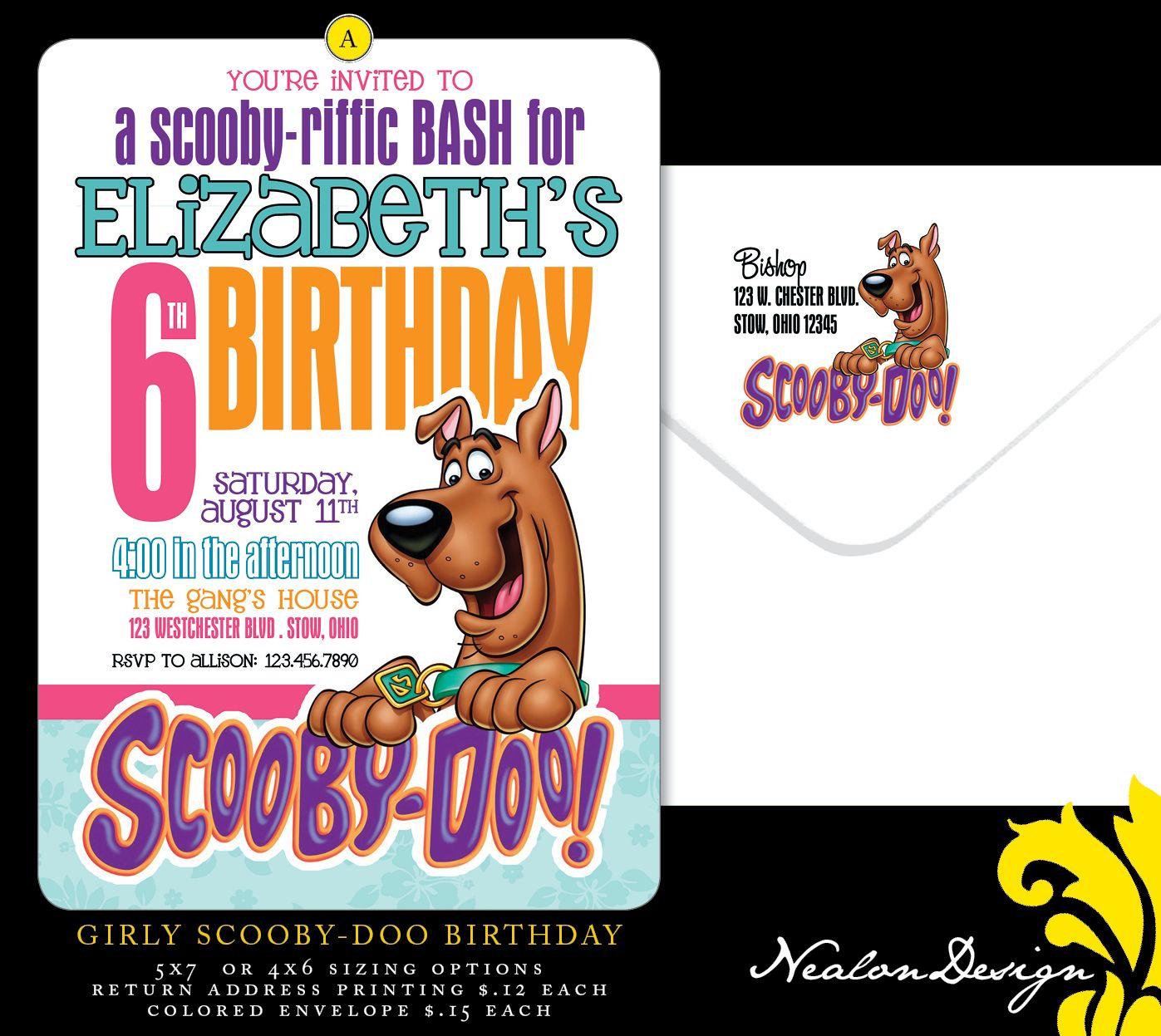 scooby doo birthday invitations | Nealon Design: Scooby-Doo ...