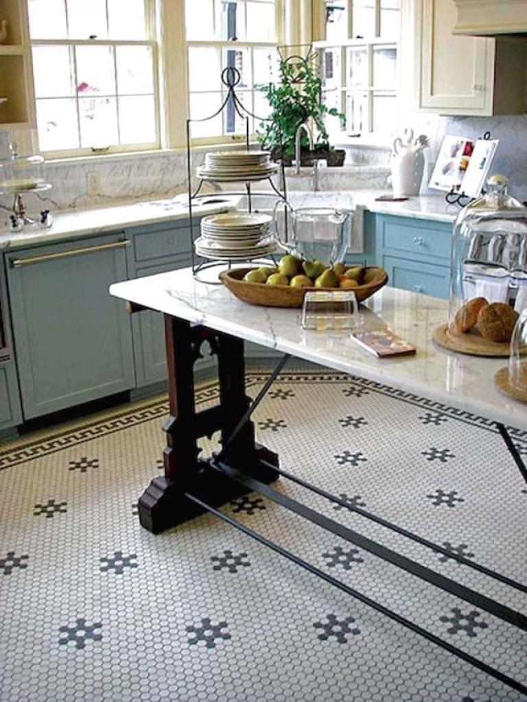 35 Beautiful Kitchen Floor Tiles Design Ideas Kitchen Flooring