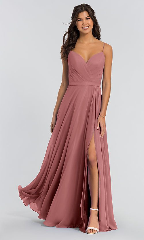 Sweetheart Chiffon Kleinfeld Long Bridesmaid Dress is part of Bridesmaid dresses - I like Style KL200005 from KleinfeldBridalParty com, do you like