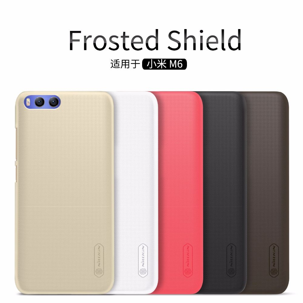 xiaomi mi6 Case xiaomi mi6 cover NILLKIN Super Frosted Shield hard back cover case with free screen protector and Retail package