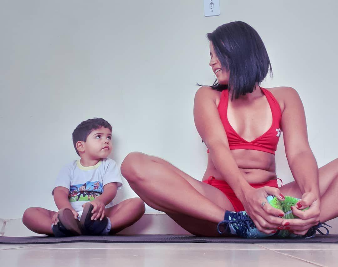 Hora de malhar pra arrancar esse panceps, e a mamãe ganhou um novo guerreiro fitness. #fitness #malh...
