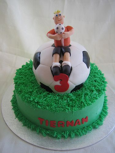 Soccer cake Unique Kids Birthday Cakes Volume 2 Pinterest
