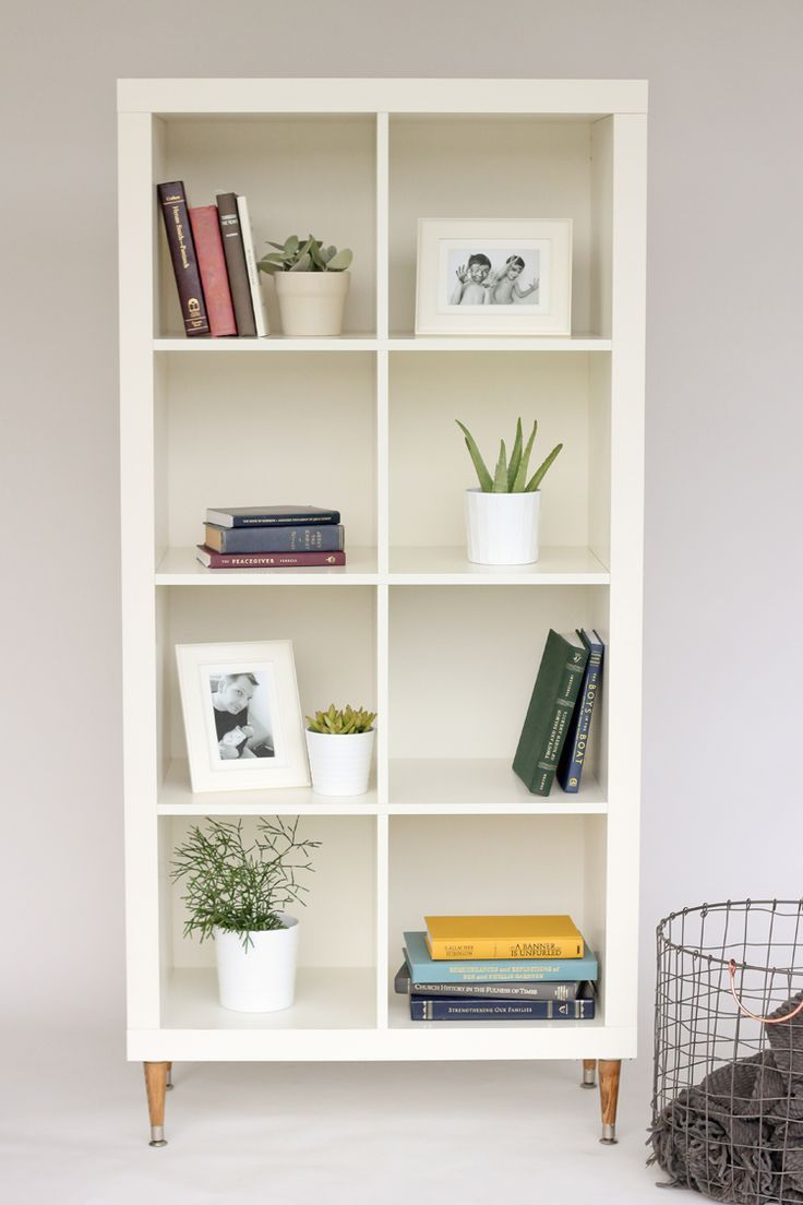 Kallax IKEA Hack tutorial - adding a back board and feet. Ours is ...