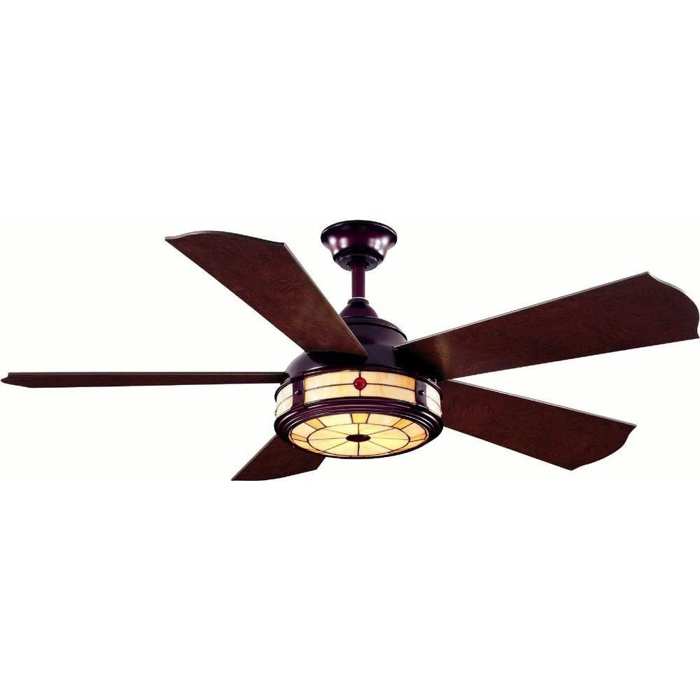Hampton bay savona 52 in weathered bronze ceiling fan ceiling indoor weathered bronze ceiling fan with light kit and remote control ac386 wb the home depot mozeypictures Image collections