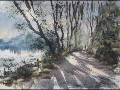Watercolour Painting Demo From A Reference Photograph Of