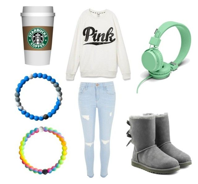 """My cold outside outfit"" by fashionqueen-001 on Polyvore featuring River Island, Victoria's Secret, UGG Australia and Urbanears"