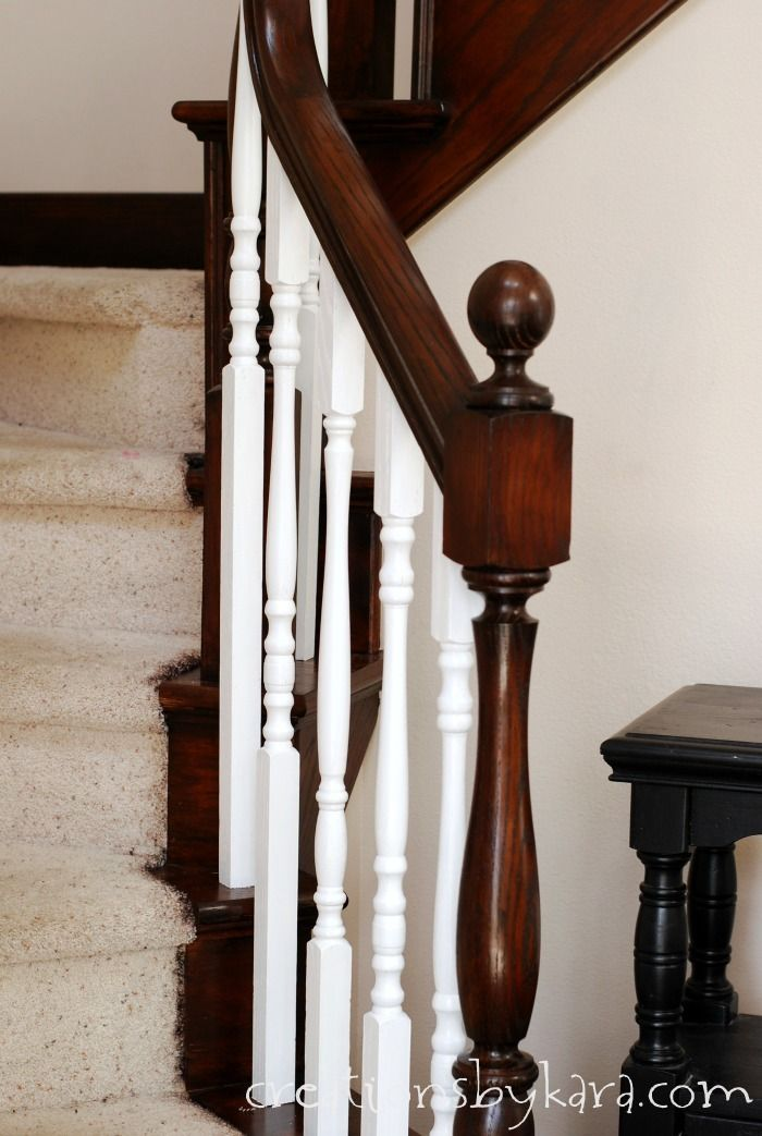 Best Oak Banister Makeover With Java Stain Staircase Makeover 400 x 300