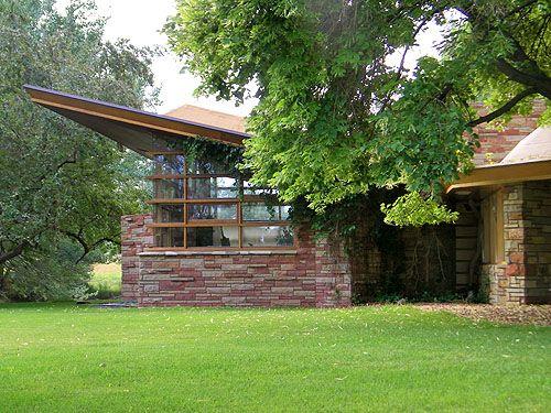Quintin & Ruth Blair Residence. 1952. Cody, Wyoming. Usonian Style. Frank Lloyd Wright