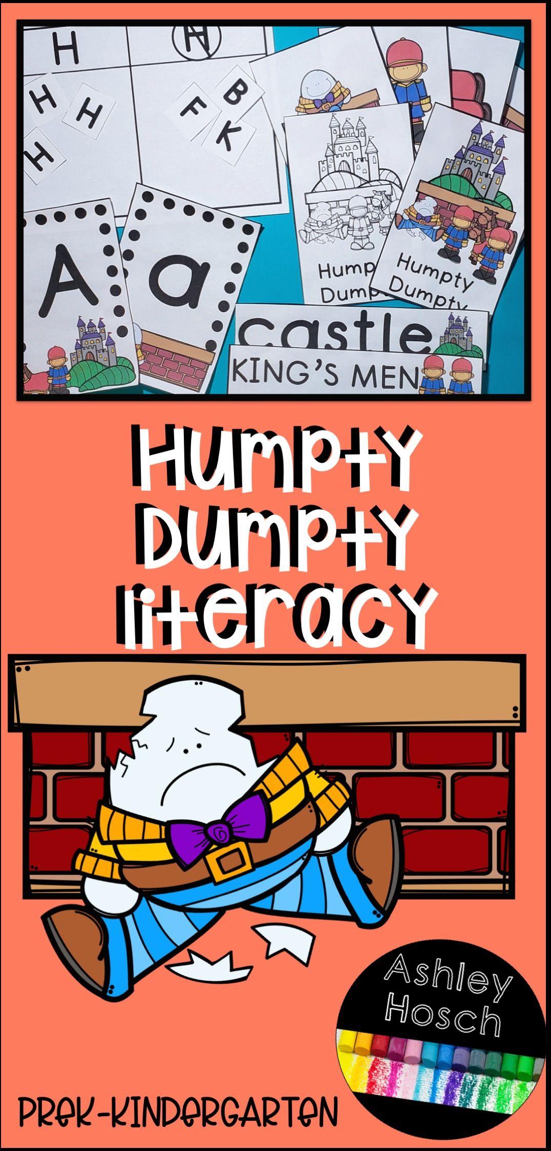 Humpty Dumpty Literacy Activities For Preschool Prek
