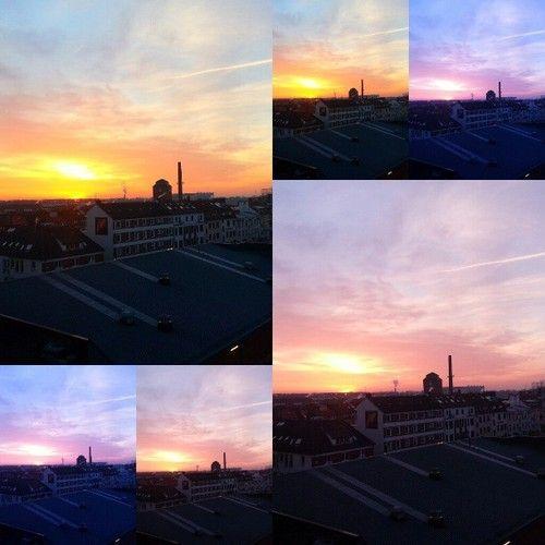 Just another #sunrise #goldenhour #bremen (hier: abat AG)