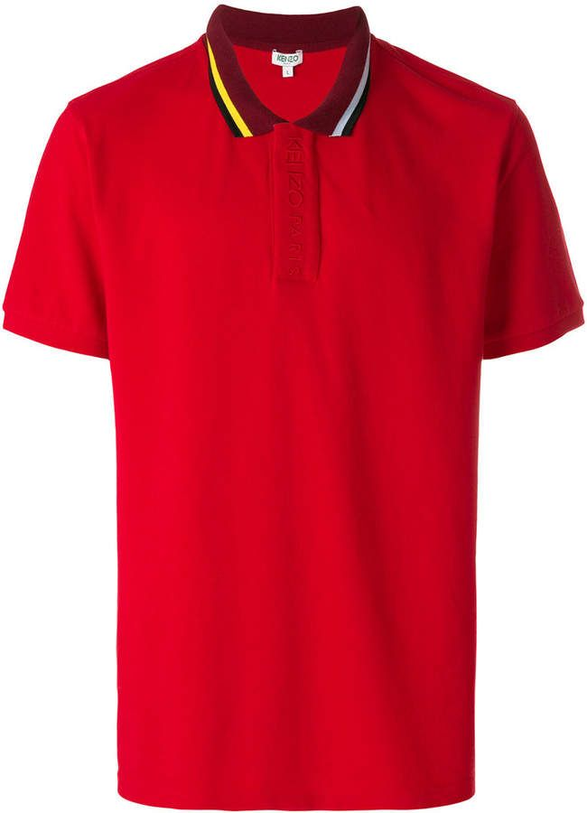 fcd0994fb3 Kenzo embroidered placket polo shirt | Products | Polo shirt, Polo ...