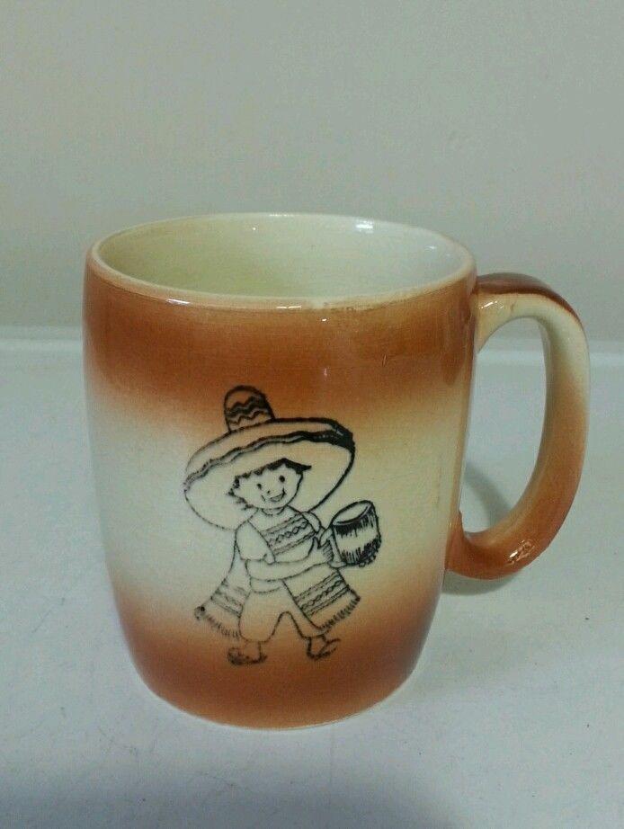 Sombreo Boy Mexico Coffee Mug NPE Japan 1961  #NPE http://www.ebay.com/usr/southerngirl1069