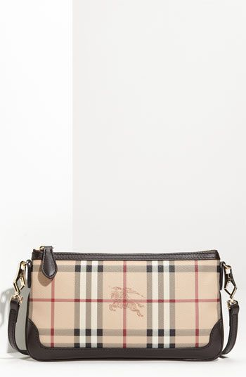 Burberry Haymarket Check Crossbody Bag available at Strap is long enough  for shoulder or cross-body wear, and detachable for use as a clutch.