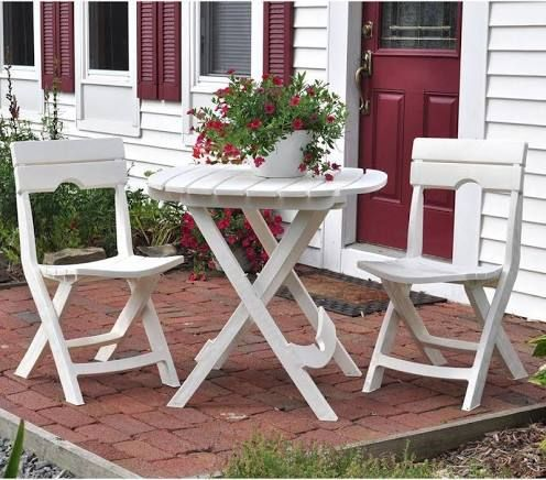 Small Front Porch Table Chairs Outdoor Patio Furniture Sets