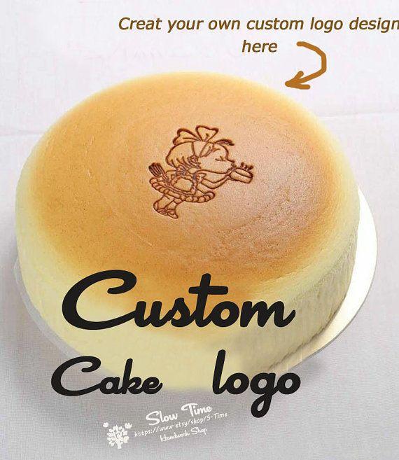 Personalized Custom Food Cake Logo Bread Wood Branding Cake Branding Food Branding Cake Logo