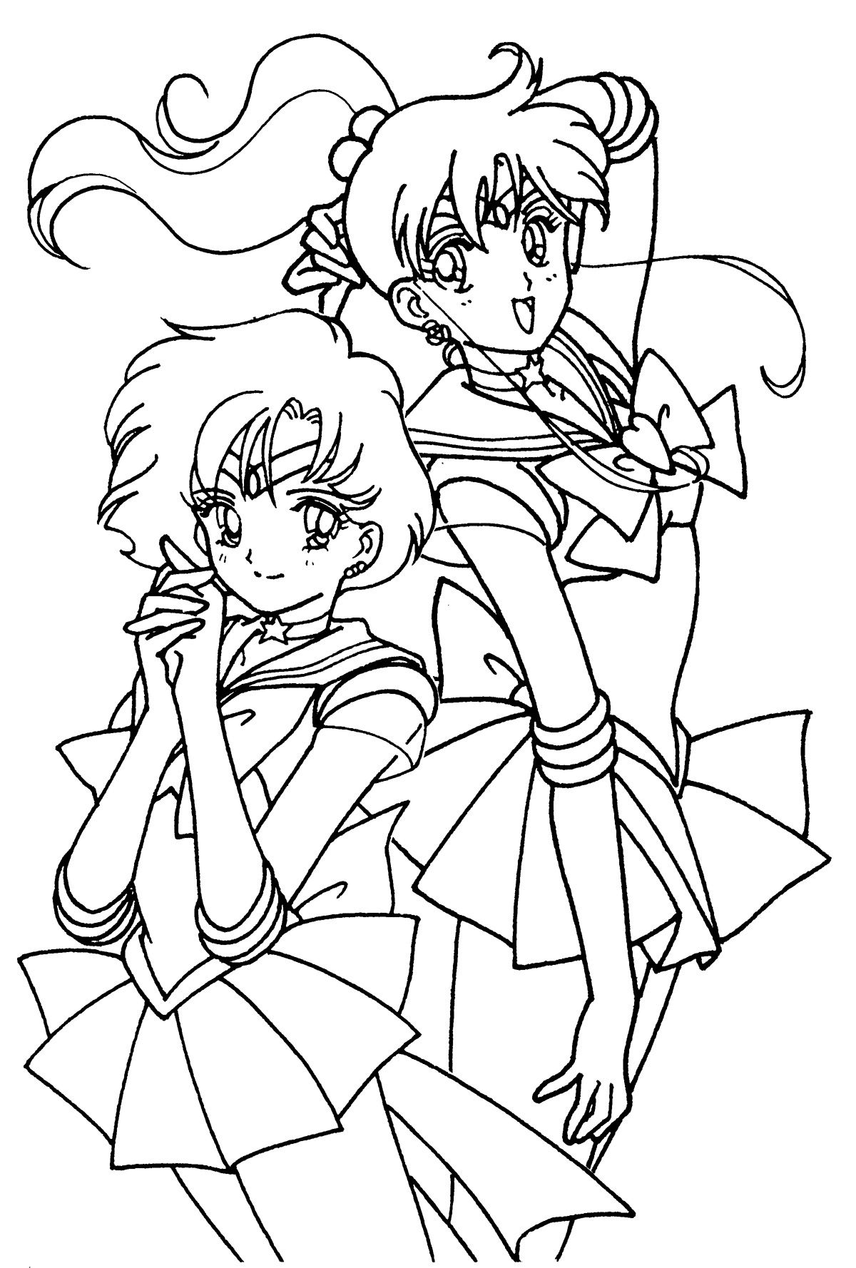 sailor mercure et jupiter | amazing coloring pictures | Pinterest