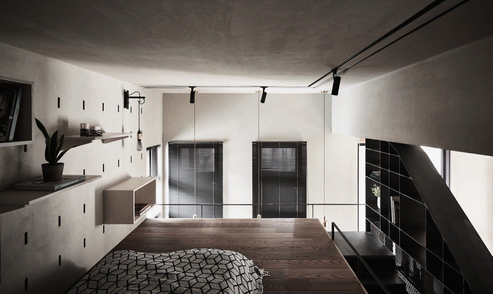 Photo 4 Of 12 In A Tiny Apartment Transforms Into A Stylish Master Bedroom Lighting Small Apartment Design Modern Bedroom Lighting