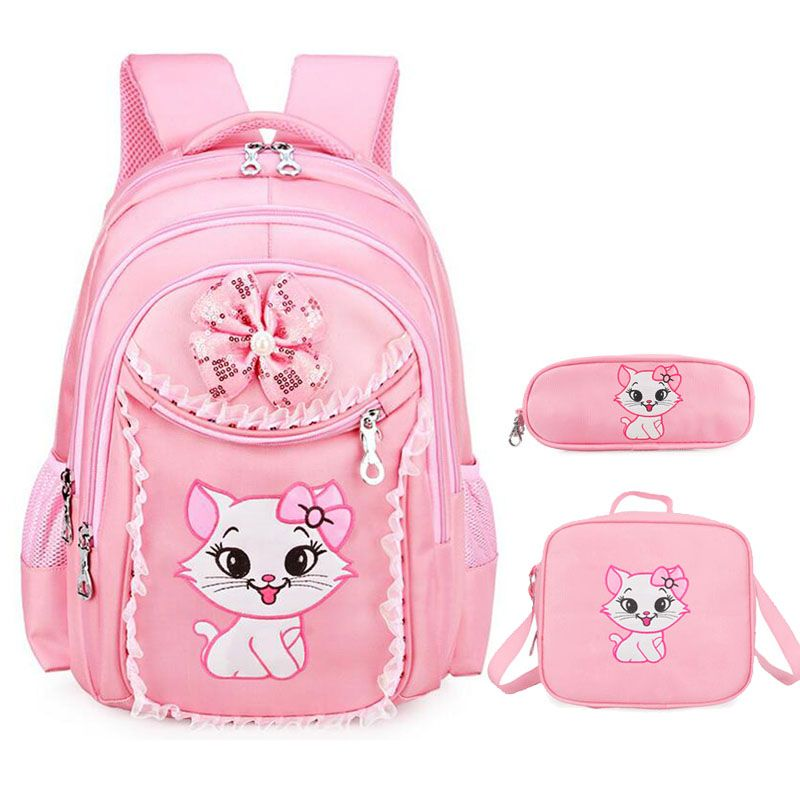 Sweet Cat Girl S School Bags Cartoon Pattern Kid Backpack Children