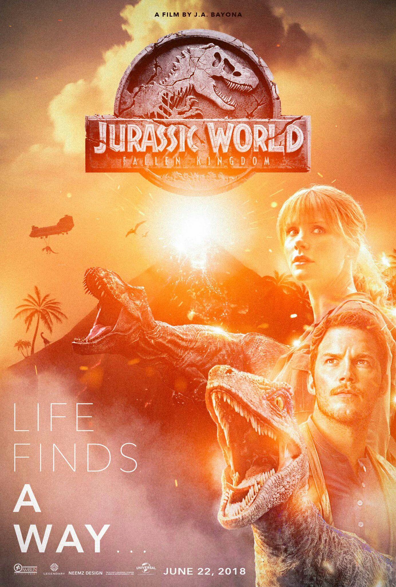 Jurassic World Fallen Kingdom Fan Art Poster