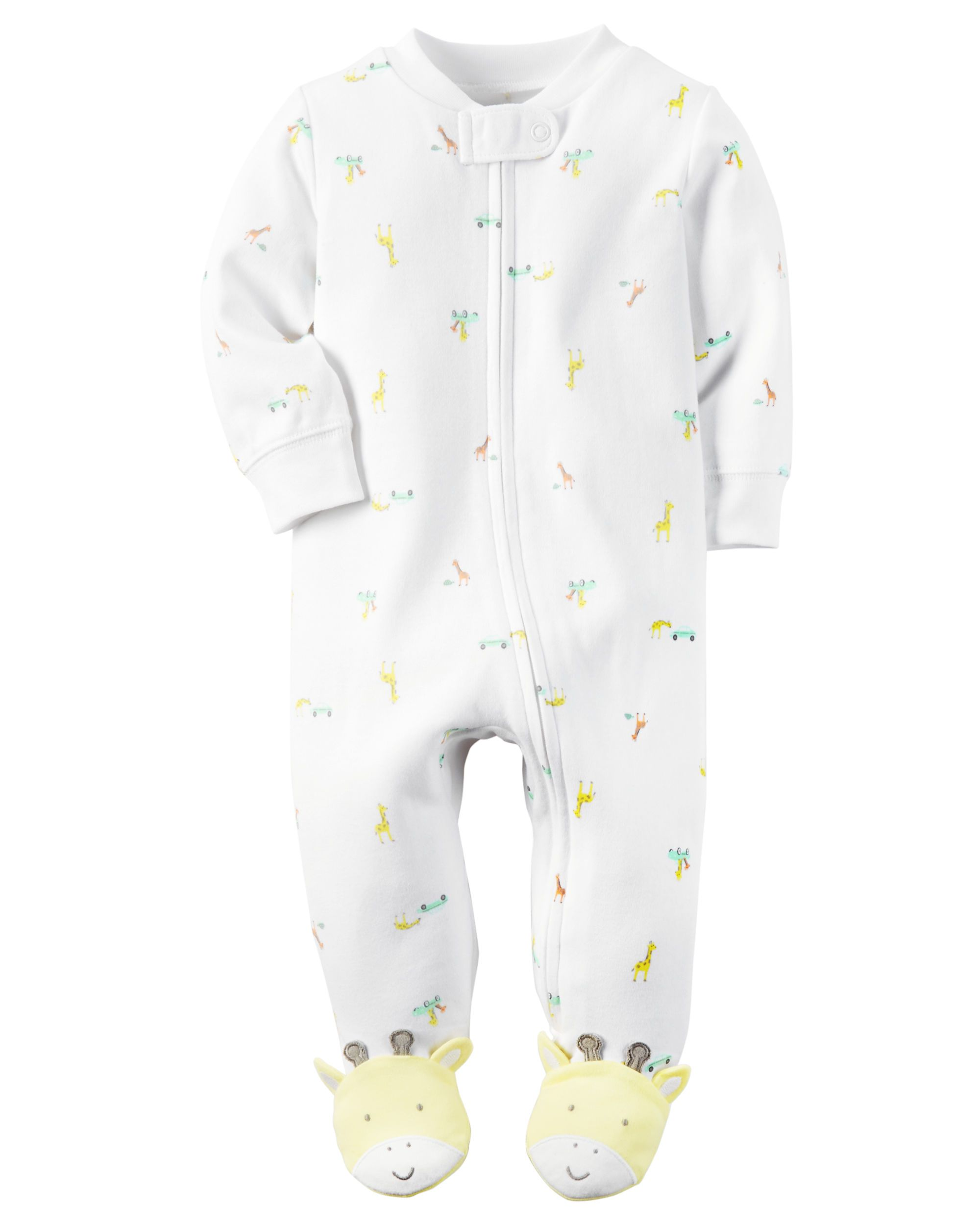 Carters Baby Girls Microfleece Snap-Up Sleep /& Play Polka Dot Dog NB