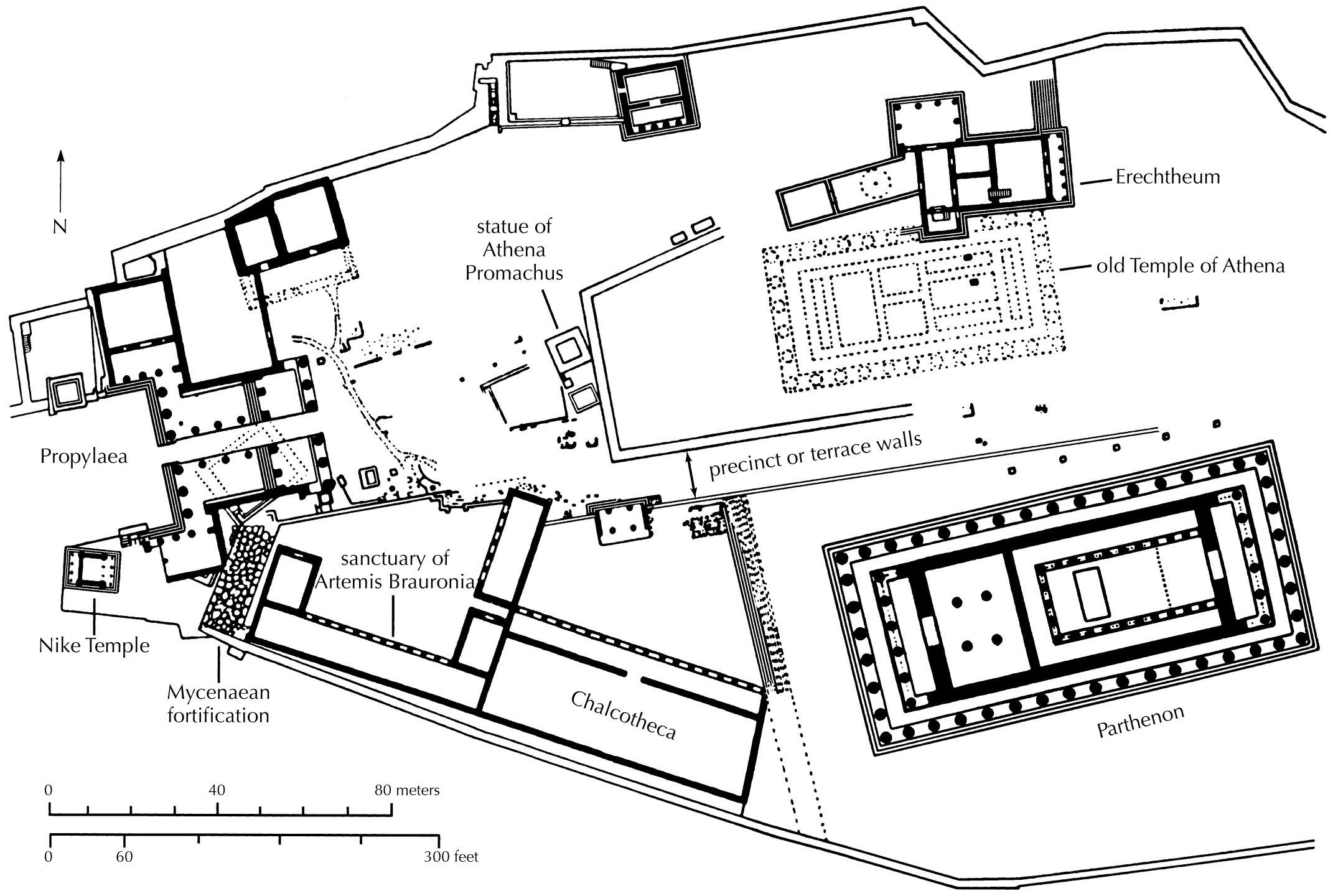 Plan Of The Akropolis At Athens In 400 Bce With Images
