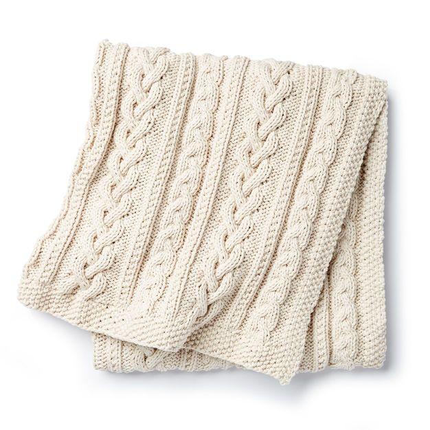 Bernat Braided Cables Knit Throw | Yarn | Pinterest