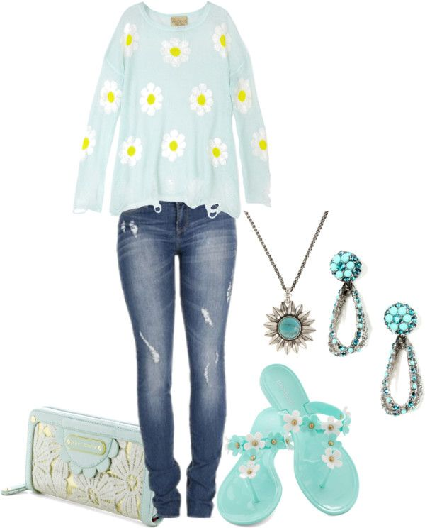 """Lazy daisy"" by zeepanda ❤ liked on Polyvore"