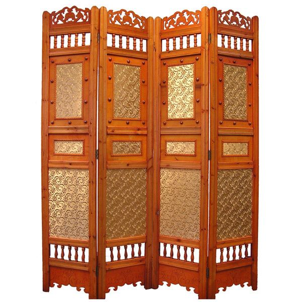 Roman Shabby Room Divider Screen 4-panel Wooden Frame | San Jose ...