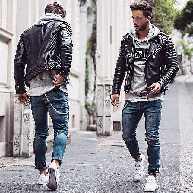 Men's Fashion Instagram Page Leather jacket outfits