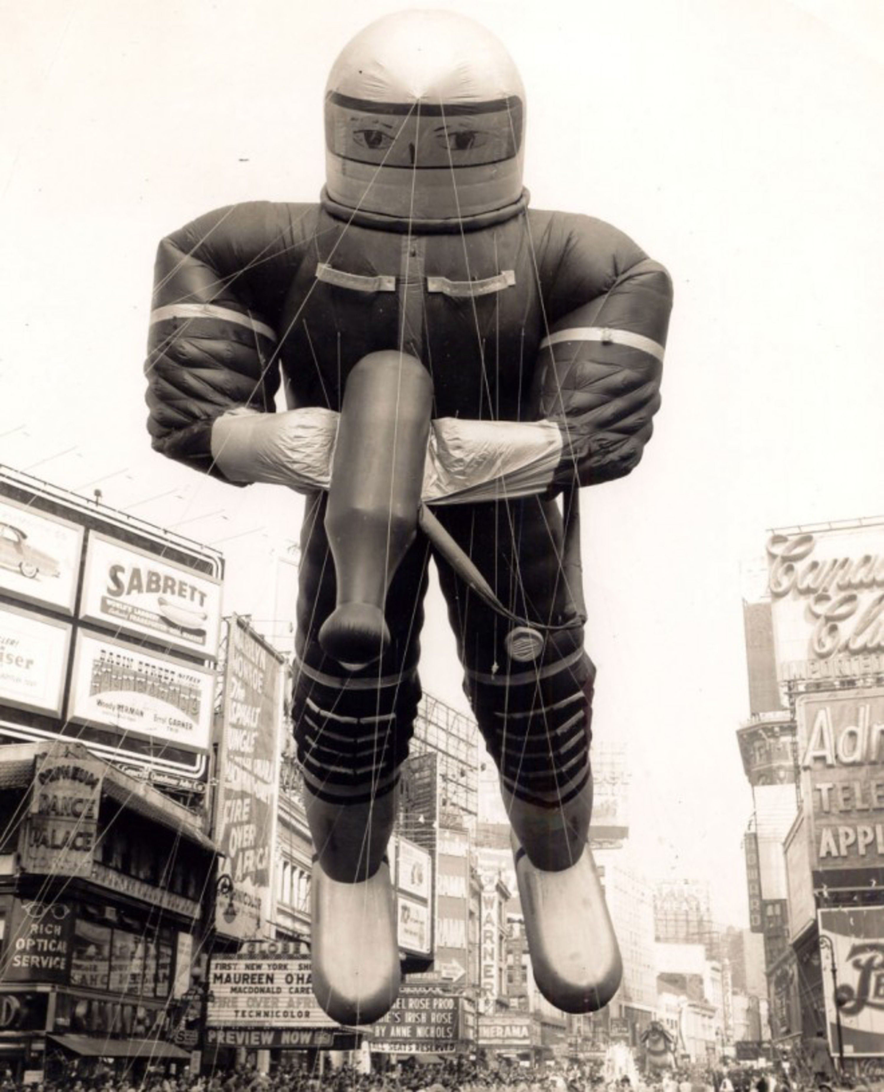 Vintage Photographs Of The Macys Thanksgiving Parade Spaceman