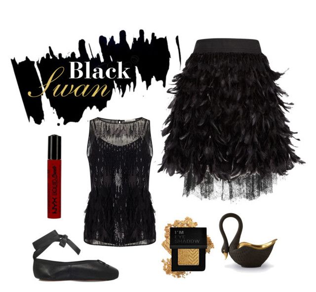 """""""Never showing Oncore"""" by chibidanachan on Polyvore featuring Elie Saab, L'Objet, Alice + Olivia, Jacques Vert, NYX and Forever 21"""