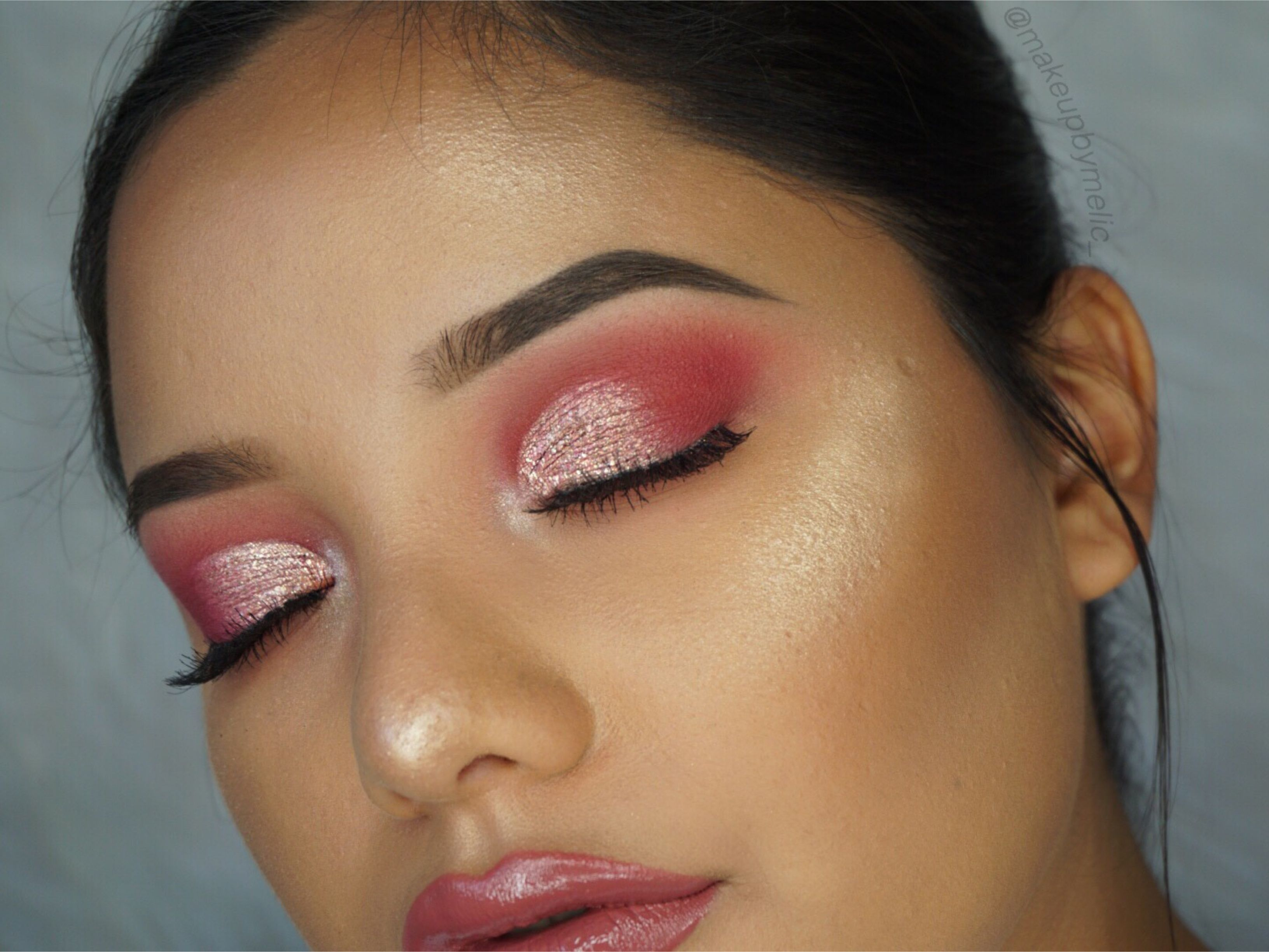 Pink cut crease makeup tutorial makeup geek eyeshadows and makeup makeup geek eyeshadows in cupcake mango tango razzleberry and sorbet look by baditri Image collections