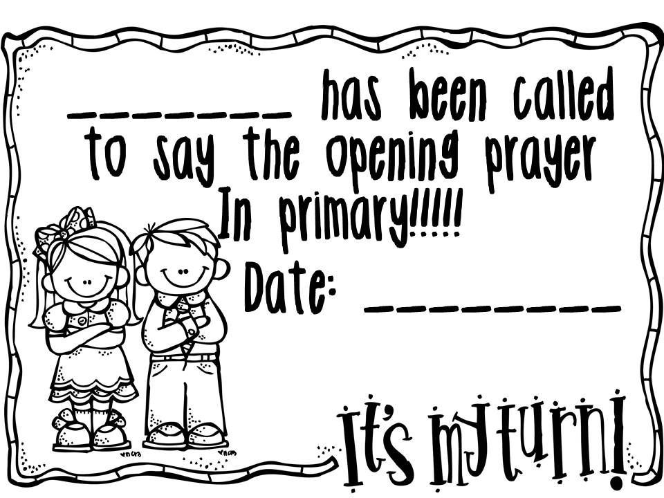 Melonheadz LDS illustrating: Printables for Primary