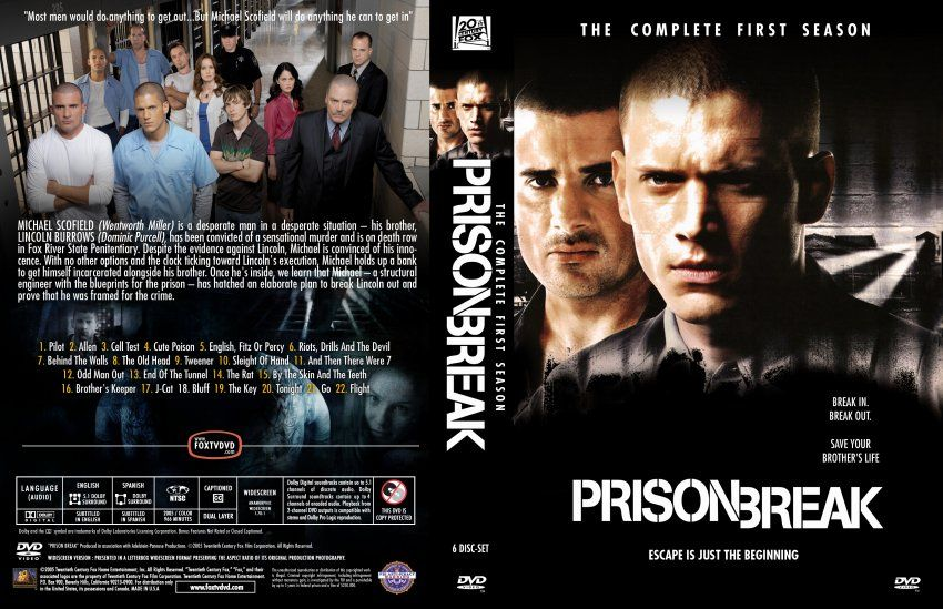 Prisonbreak Season1 Dvd Packaging Case Promotional Photography Cast Fox Prison Break Michael Scofield Hi Brother