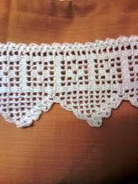 Resultado de imagen para patrones puntillas crochet para - Puntillas para cortinas ...