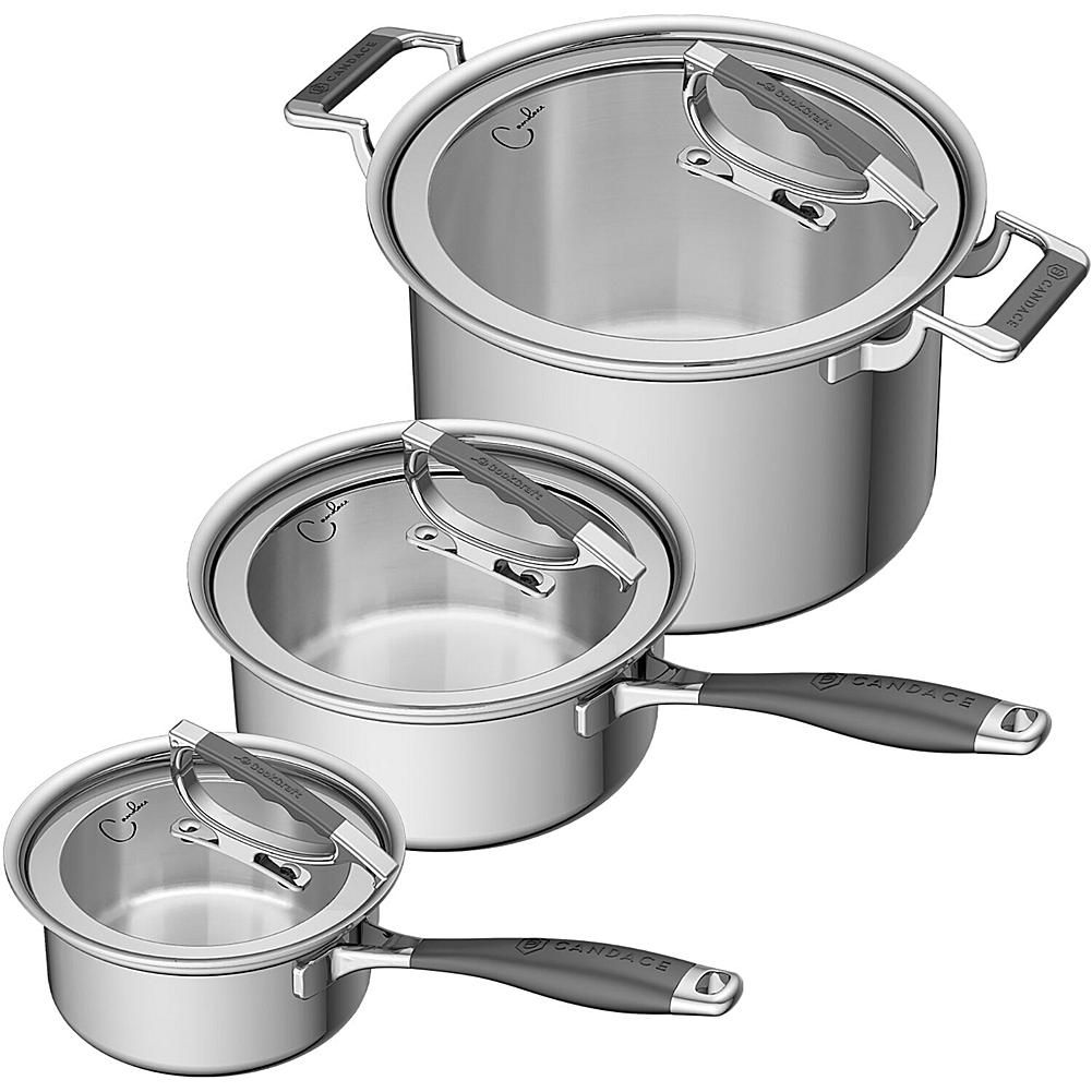 Cookcraft 6 Piece Tri Ply Stainless Steel Legacy Cookware Set 9530488 Hsn Cookware Set Durable Cookware Cast Iron Cookware Set