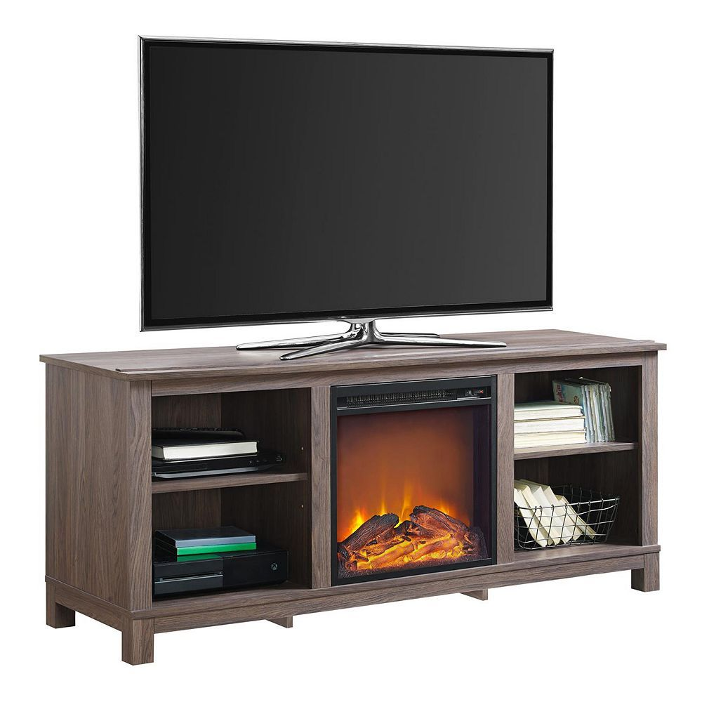 """Adjustable Entertainment Center Stand TV Console 50/"""" Media Storage Wood Cabinet"""