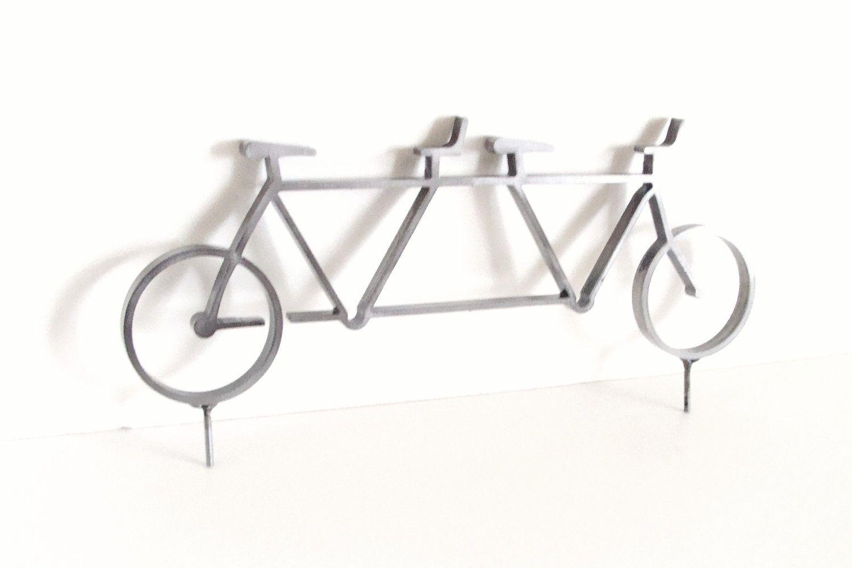Tandem Bike Wedding Cake Topper Metal Tandem Bicycle Sculpture ...