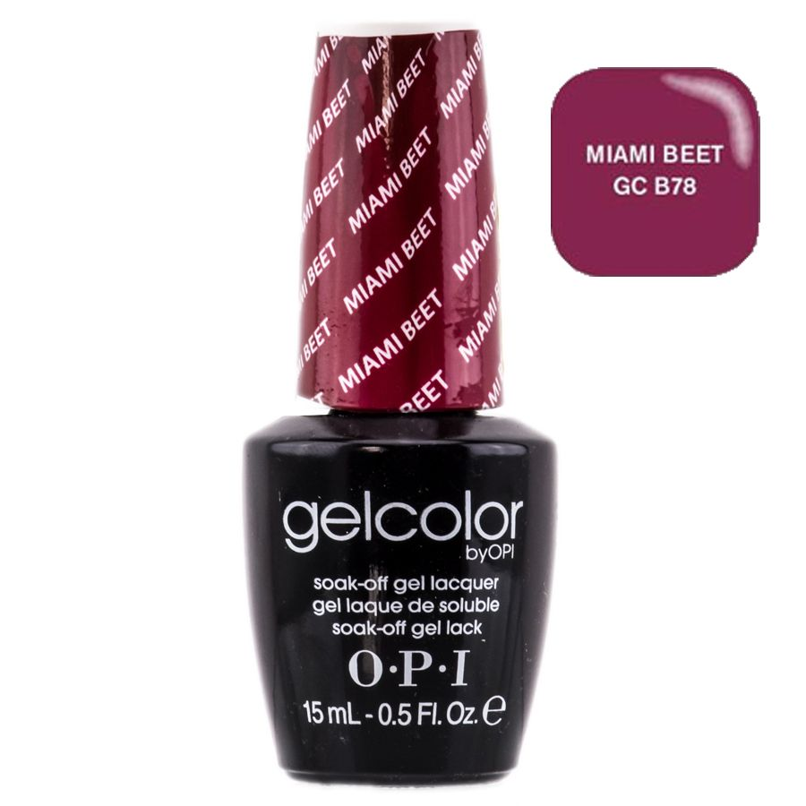 GelColor by OPI Soak-Off Gel Lacquer nail polish - Miami Beet - GC ...