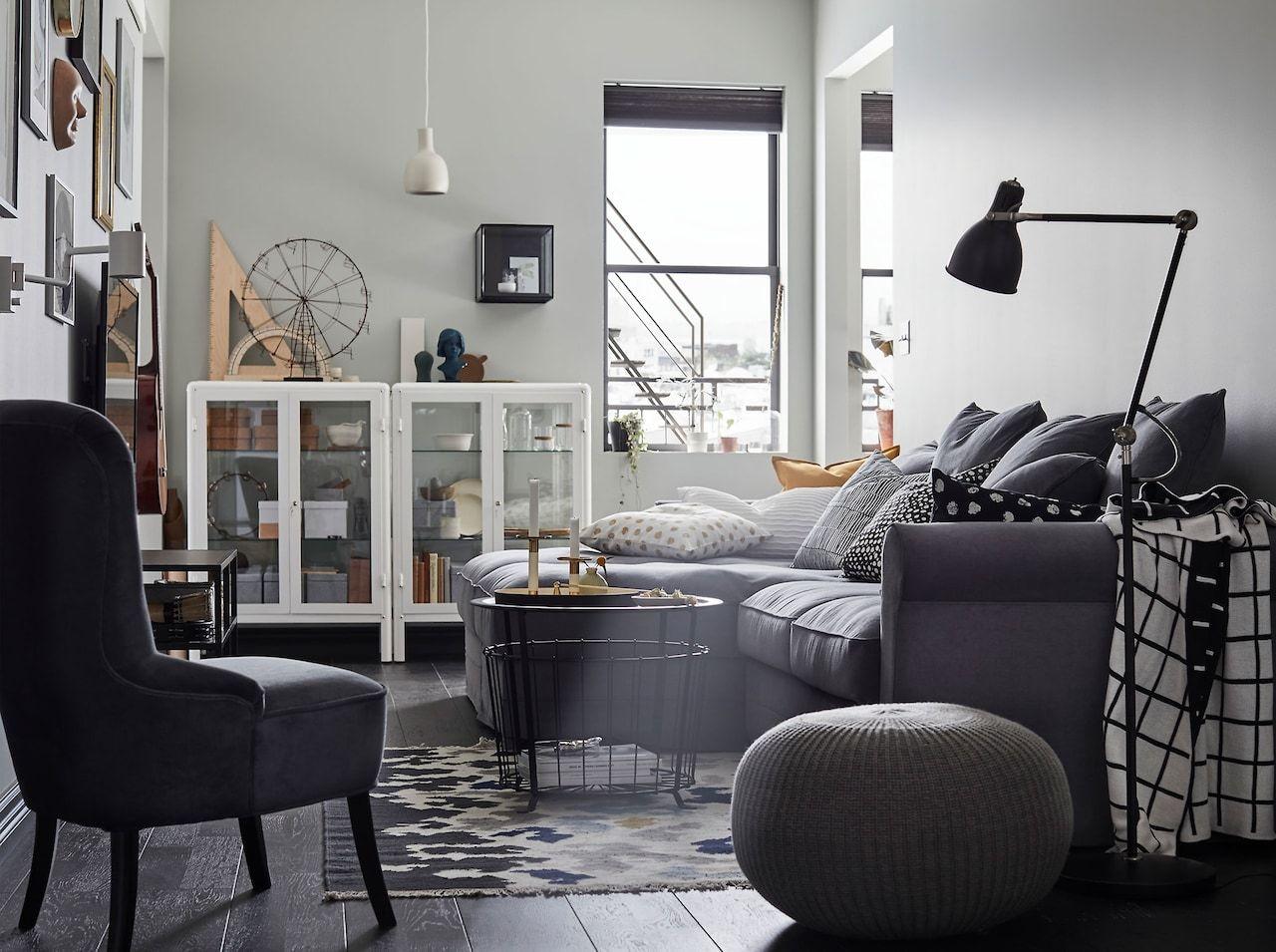 Ikea grÖnlid ljungen dark grey sofa is meant to last a family a