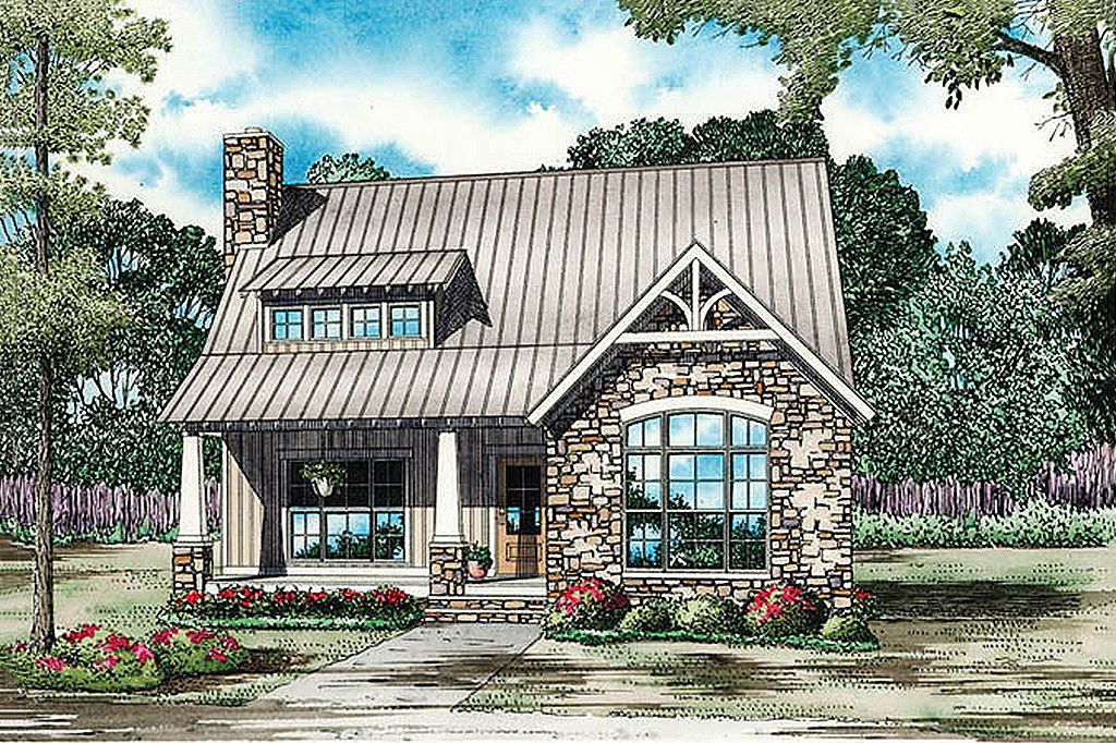 Bungalow Style House Plan 3 Beds 2 Baths 1874 Sq Ft Plan 17 2481 Cottage House Plans Country House Plans Cottage Plan