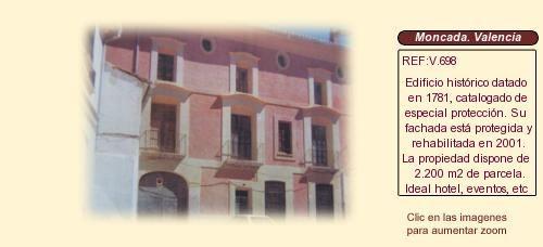 V698 Moncada. Valencia. Casa señorial en venta ideal hotel