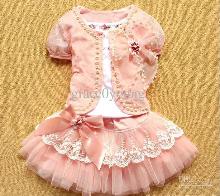 Kids Toddler Baby Girls Summer Bow Dress Princess Floral Ruffle Tutu Dresses Set