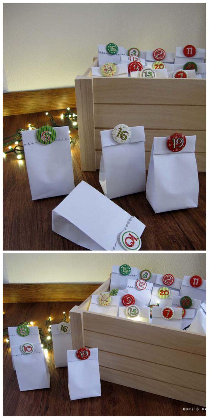 einfache adventskalender zum selber basteln dekorieren f r den advent adventskalender f r. Black Bedroom Furniture Sets. Home Design Ideas