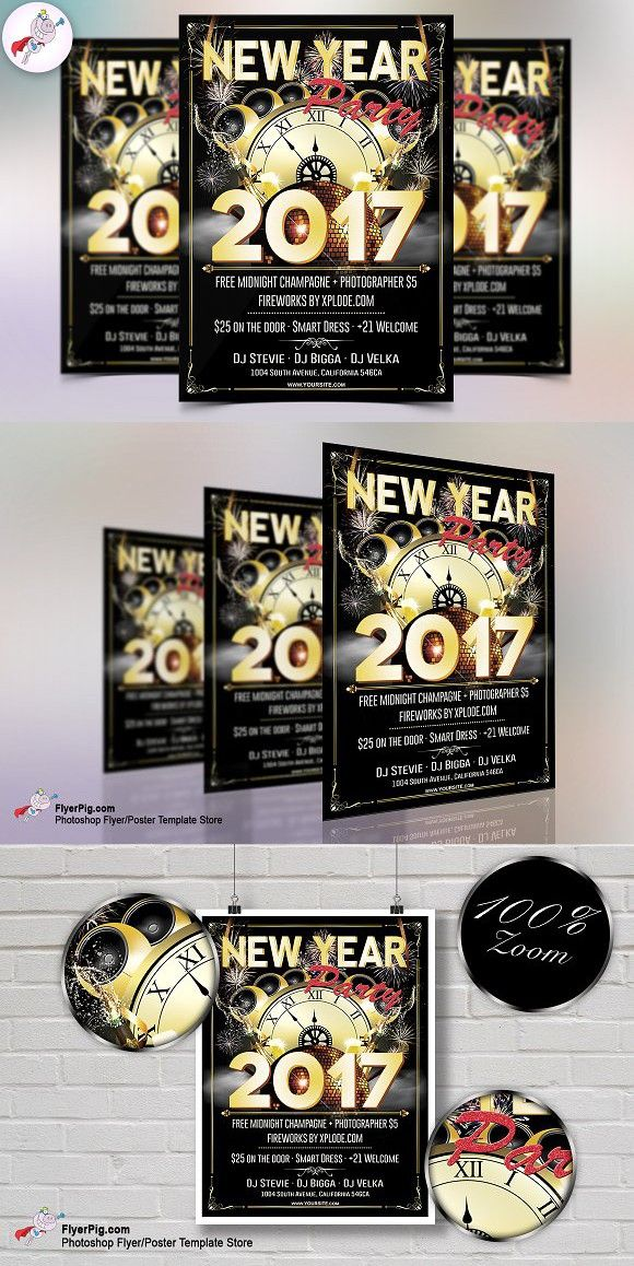 New Year Party  Flyer Template  Best Flyer Template Ideas