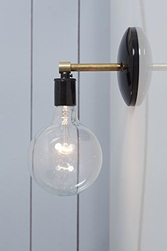 Brass and black wall sconce industrial light electric